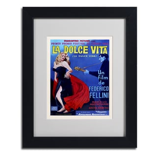 Vintage Apple Collection 'La Dolce Vita' Framed Matted Art
