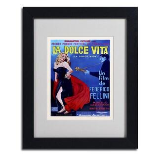 Vintage Apple Collection 'La Dolce Vita' Matted Framed Art