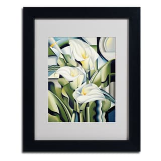 Catherine Abel 'Cubist Lilies' Framed Matted Art