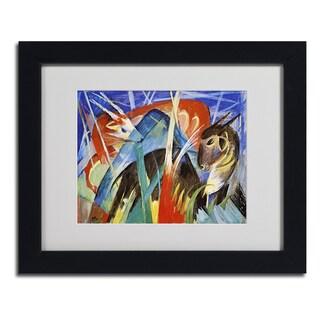 Franz Marc 'Fairy Animals' Framed Matted Art