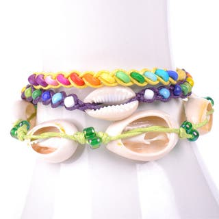 Thai-handicraft Multicolored Wood Beads and Sea Shells Wax Cord Bracelets (Thailand)|https://ak1.ostkcdn.com/images/products/8419477/8419477/Thai-handicraft-Multicolored-Wood-Beads-and-Sea-Shells-Wax-Cord-Bracelets-Thailand-P15717832.jpg?impolicy=medium