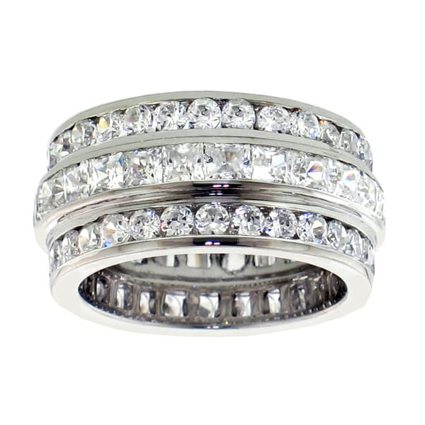 14k/ 18k Gold or Platinum 6ct TDW Diamond Multi-row Band (F-G, SI1-SI2)