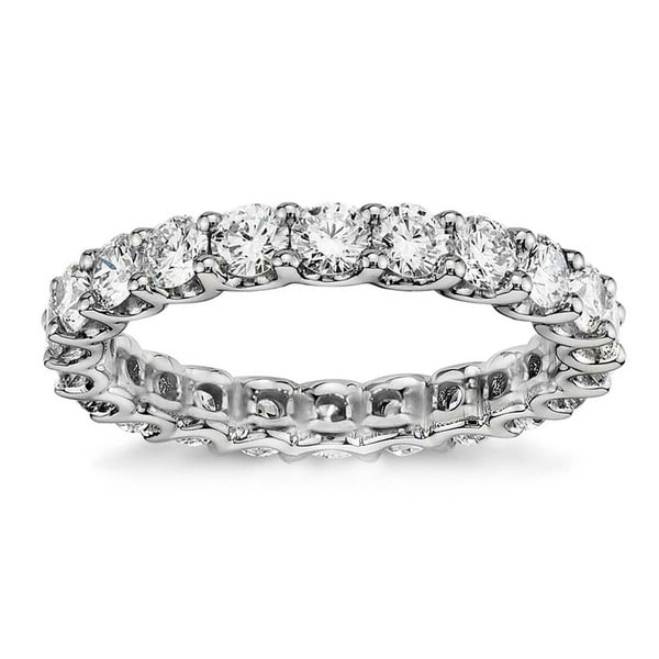 14k White Gold 1.65 - 2ct TDW Round Diamond Wedding Band