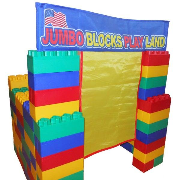 Jumbo Blocks 99-piece Play House