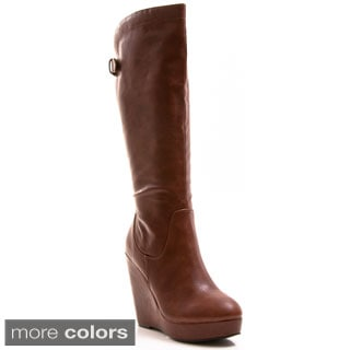 Gomax Women's 'Full House 13' Knee-high Wedge Boots - Free ...