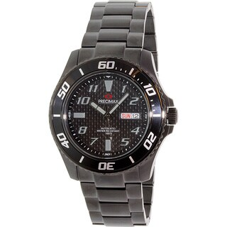Precimax Men's Aqua Classic Automatic PX13226 Black Stainless-Steel Black Dial Automatic Watch