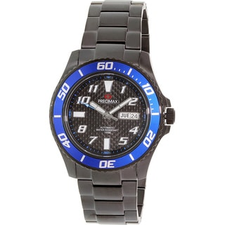 Precimax Men's Aqua Classic Automatic PX13225 Black Stainless-Steel Black Dial Automatic Watch