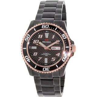 Precimax Men's Aqua Classic Automatic PX13223 Black Stainless-Steel Black Dial Automatic Watch