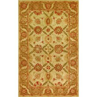 Golden Beige/ Gold Wool Area Rug (2'3 x 8')