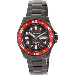 Precimax Men's Aqua Classic Automatic PX13224 Black Stainless-Steel Black Dial Automatic Watch