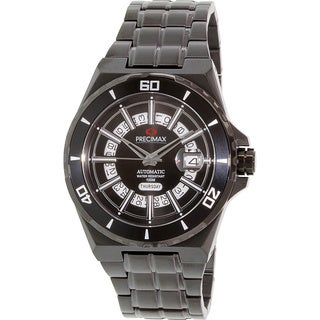 Precimax Men's Stark Automatic PX13219 Black Stainless-Steel Black Dial Automatic Watch