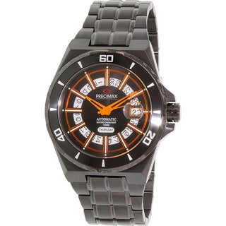 Precimax Men's Stark Automatic PX13218 Black Stainless-Steel Black Dial Automatic Watch
