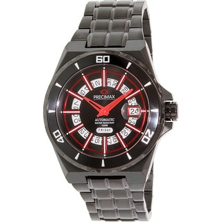 Precimax Men's Stark Automatic PX13216 Black Stainless-Steel Black Dial Automatic Watch