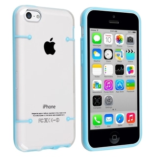BasAcc Clear with Blue Trim Slim Case for Apple® iPhone 5C