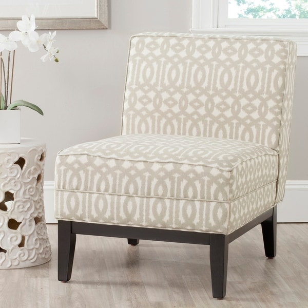 Shop Safavieh Armond Grey Cream Chair Free Shipping