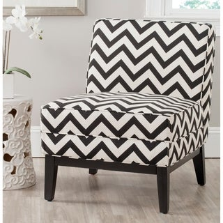 Alica Modern Black White Faux Leather Chair Free