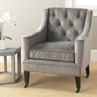 Safavieh Sherman Mushroom Taupe Cotton Fabric Arm Chair   Free Shipping  Today   Overstock.com   15718141