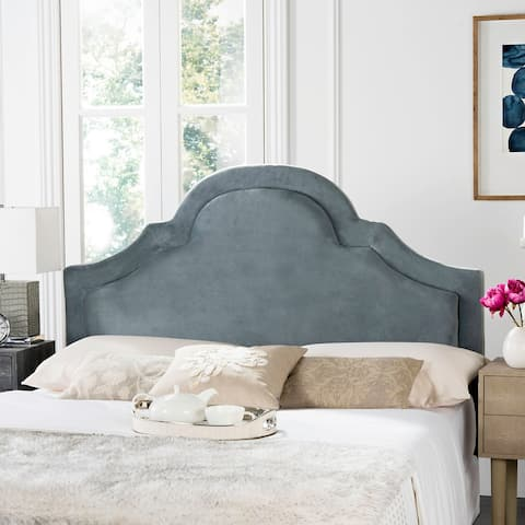 Safavieh Kerstin Wedgwood Blue Upholstered Arched Headboard (Queen)