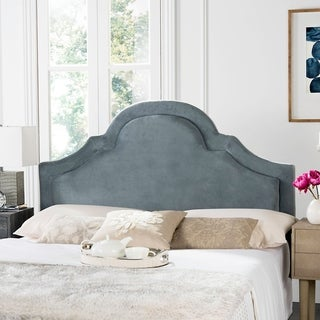 Link to Safavieh Kerstin Wedgwood Blue Upholstered Arched Headboard (Queen) Similar Items in Bedroom Furniture