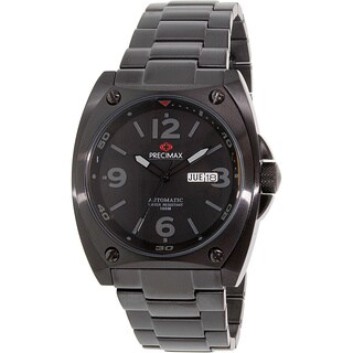 Precimax Men's Fortis Automatic PX13208 Black Stainless-Steel Black Dial Automatic Watch