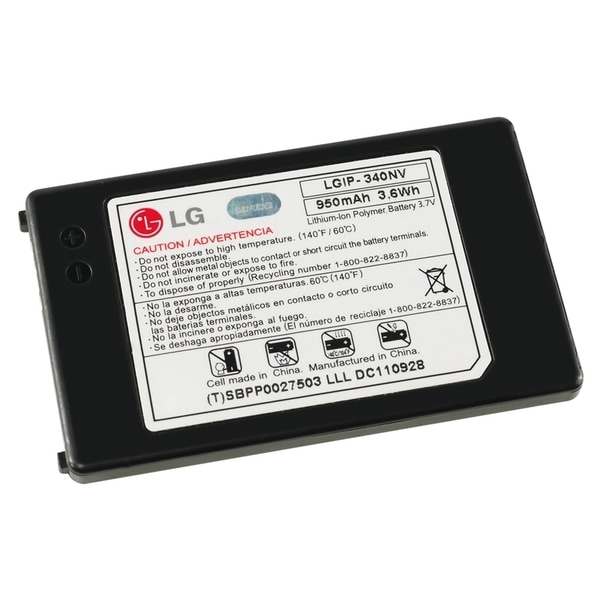 LG VN250/ VN530 OEM Standard Battery LGIP-340NV in Bulk Packaging