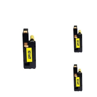 INSTEN Yellow Cartridge Set for Dell C1660W (Pack of 3)