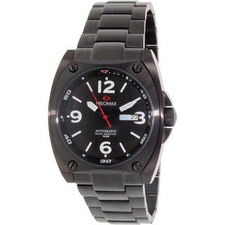 Precimax Men's Fortis Automatic PX13207 Black Stainless-Steel Black Dial Automatic Watch