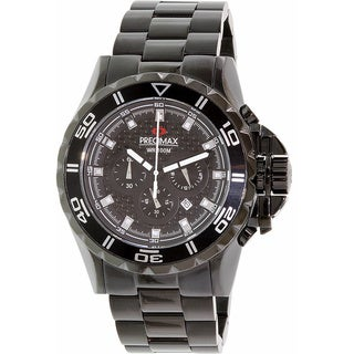 Precimax Men's Vintage Automatic PX13205 Black Stainless-Steel Black Dial Automatic Watch