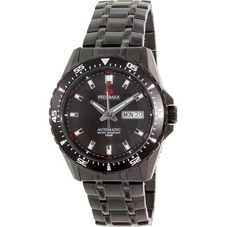 Precimax Men's Vintage Automatic PX13203 Black Stainless-Steel Black Dial Automatic Watch
