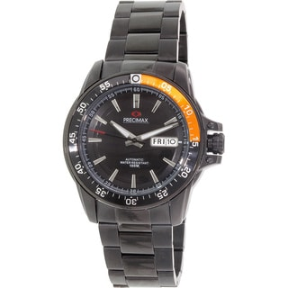 Precimax Men's Vintage Automatic PX13201 Black Stainless-Steel Black Dial Automatic Watch