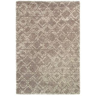 Bromley Pinnacle/ Camel-ivory Power-loomed Area Rug (5'3 x 7'6)
