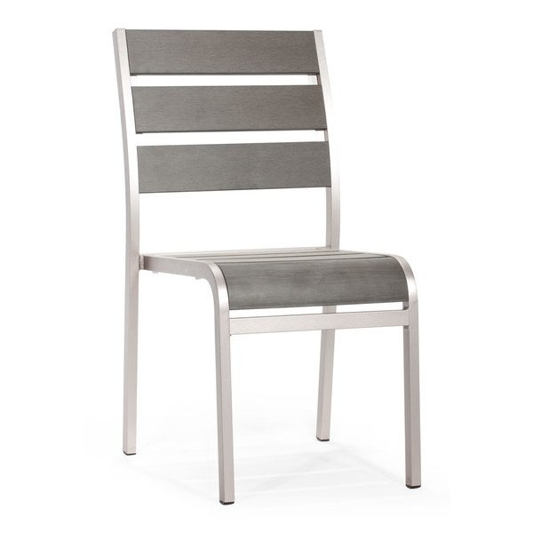 Brushed Aluminum Township Chair - Free Shipping Today - Overstock.com - 15718353