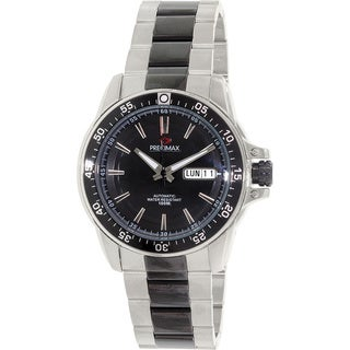 Precimax Men's Propel Automatic PX13196 Two-Tone Stainless-Steel Black Dial Automatic Watch