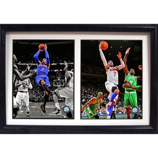 New York Knicks Carmelo Anthony 12 x 18-inches Double Framed Photo
