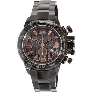 Swiss Precimax Men's Forge Pro SP13245 Black Stainless-Steel Black Dial Swiss Chronograph Watch|https://ak1.ostkcdn.com/images/products/8420130/P15718398.jpg?impolicy=medium