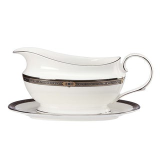 Lenox Vintage Jewel Sauce Boat and Stand