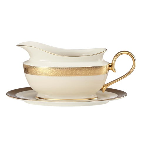 Lenox Westchester Sauce Boat and Stand
