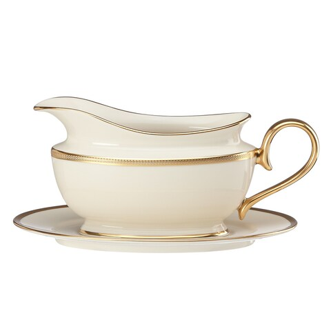 Lenox Tuxedo Sauce Boat and Stand