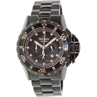 Precimax Men's Carbon Pro PX13233 Black Stainless-Steel Black Dial Quartz Watch