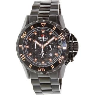Precimax Men's Carbon Pro PX13233 Black Stainless-Steel Black Dial Quartz Watch|https://ak1.ostkcdn.com/images/products/8420180/P15718433.jpg?impolicy=medium