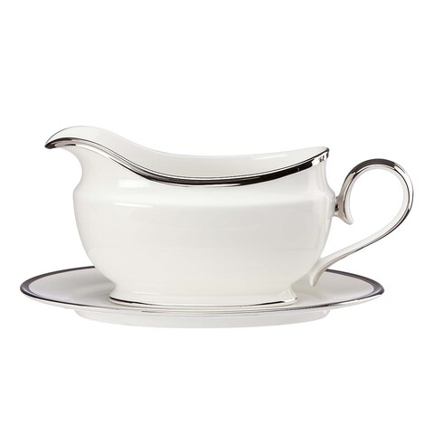 Lenox Soiltaire White Sauce Boat and Stand