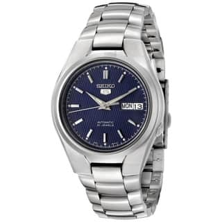 Seiko Men's 5 Automatic SNK603K Silver Stainless-Steel Automatic Watch with Blue Dial|https://ak1.ostkcdn.com/images/products/8423095/8423095/Seiko-Mens-5-Automatic-SNK603K-Silver-Stainless-Steel-Automatic-Watch-with-Blue-Dial-P15720900.jpg?impolicy=medium