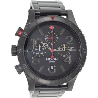 Nixon Men's 48-20 Chrono A4861320 Black Stainless Steel Quartz Watch with Black Dial