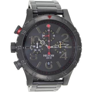 Nixon Men's 48-20 Chrono A4861320 Black Stainless Steel Quartz Watch with Black Dial https://ak1.ostkcdn.com/images/products/8427333/Nixon-Mens-48-20-Chrono-A4861320-Black-Stainless-Steel-Quartz-Watch-with-Black-Dial-P15724646.jpg?impolicy=medium