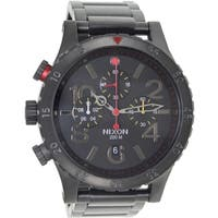 Nixon Men's 48-20 Chrono  Black Stainless Steel Quartz Watch with Black Dial