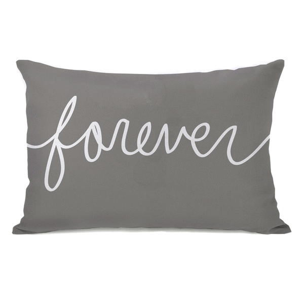 'Forever' Mix and Match Grey Throw Pillow