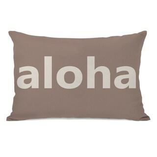 Shop Aloha Throw Pillow On Sale Free Shipping On