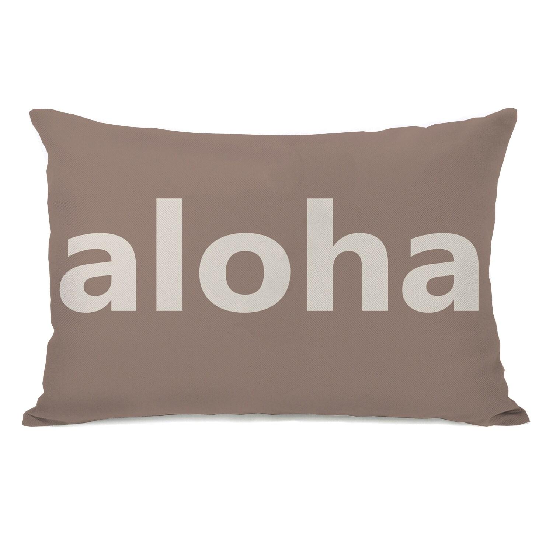 Aloha Beige Throw Pillow (18 x 18 Pillow)