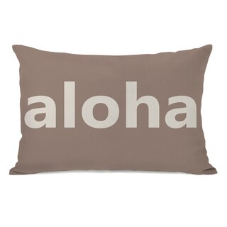 Aloha Beige Throw Pillow