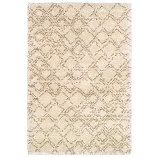 Bromley Pinnacle/ Ivory-Camel Power-loomed Area Rug (5'3 x 7'6)